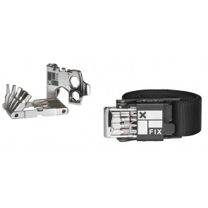 """Set aus Fix Manufacturing Bike Tool  """"Wheelie Wrech"""" und Gürtel Grösse L"""