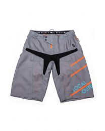 Bike Shorts Men Stream Charcoal Grey/ Orange Peel, Grösse XS - XXL