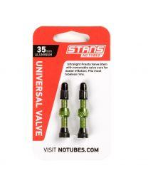 NoTubes ZTR Ventil Aluminium, grün, 35 mm, 2er Pack