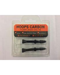 Hoops Carbon Ventil  Aluminium extra leicht, 2er Set