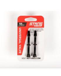 NoTubes ZTR Ventil Aluminium, schwarz, 55 mm, 2er Pack