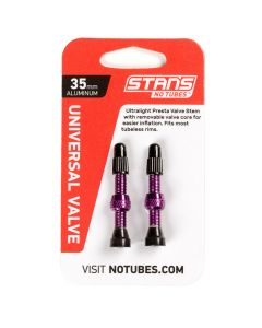 NoTubes ZTR Ventil Aluminium, purple, 35 mm, 2er Pack